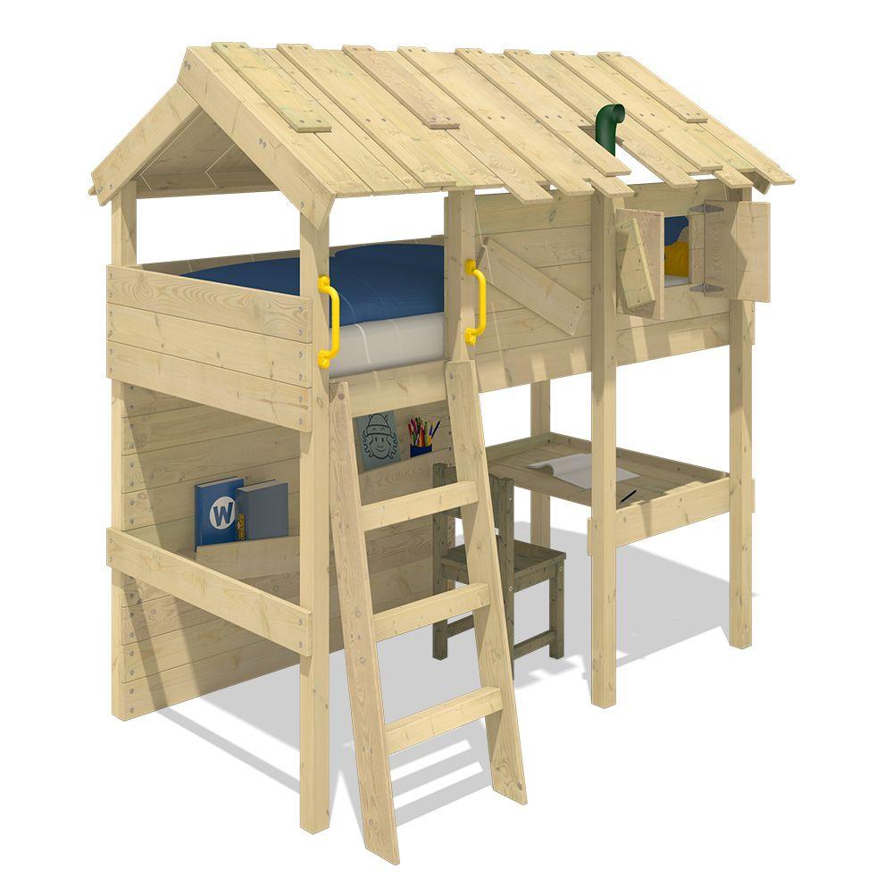 Wickey WICKEY Lit mezzanine en bois CrAzY Island pour enfants