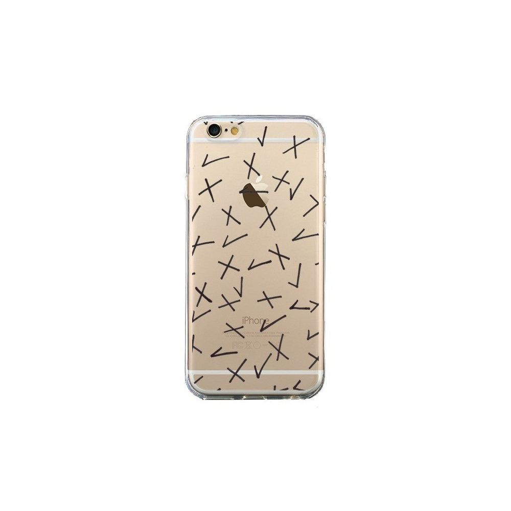 Apple - Coque iPhone 6 et 6S Cross Croix Check Transparente - Ebi Emporium