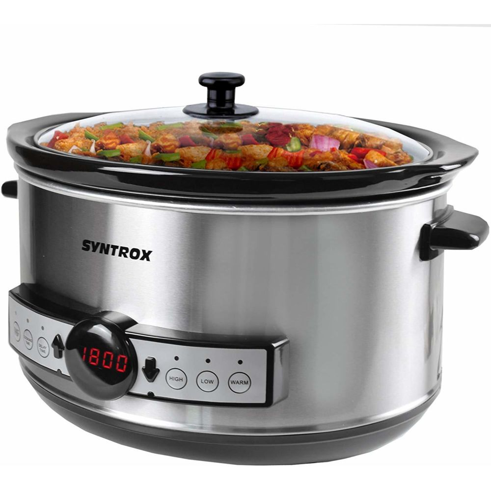 Syntrox Germany mijoteuse Digital Slow Cooker 4,5 litres avec minuterie