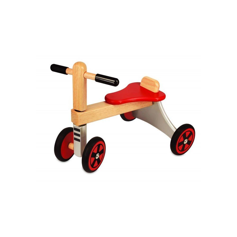 I M Toy Porteur Vélo de course 4 roues en bois