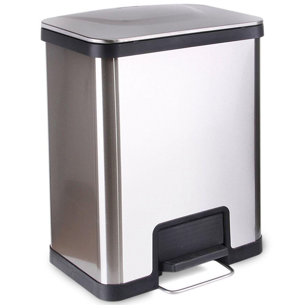 Kitchen Move kitchen move - poubelle à pédale 42l inox - bat-42lu ss