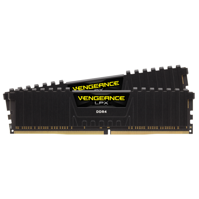 Corsair - Vengeance LPX Black 16 Go (2*8 Go) 2933 Mhz CL16 - RAM PC