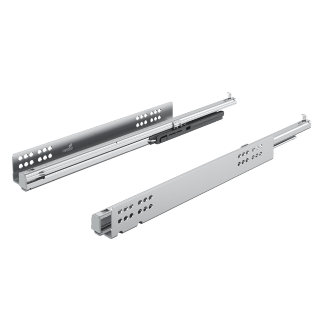 Hettich France - Paire de coulisses HETTICH Quadro V6 Silent system - 600 mm - 45297 - Hettich France