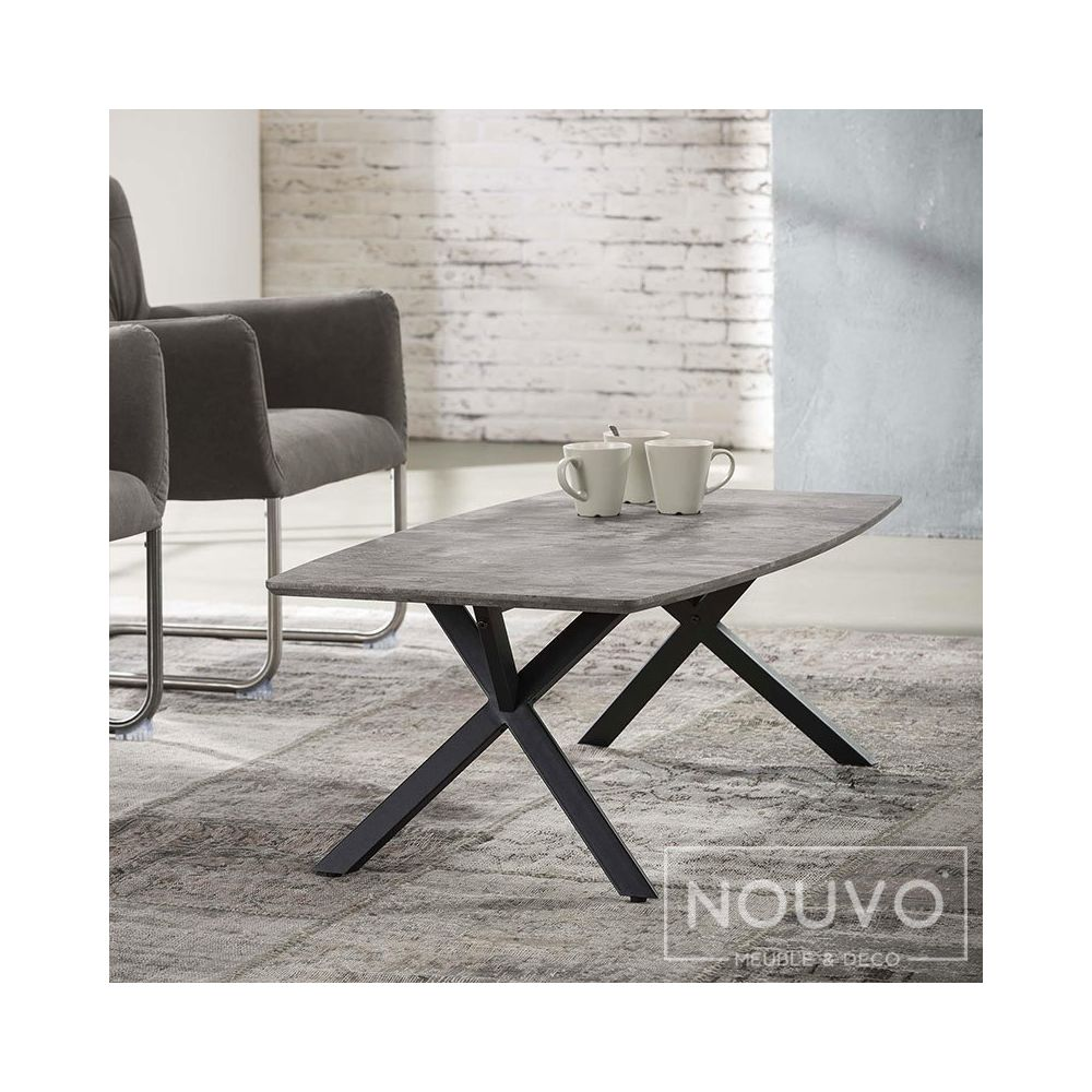 Nouvomeuble Table basse design effet béton NINE 2