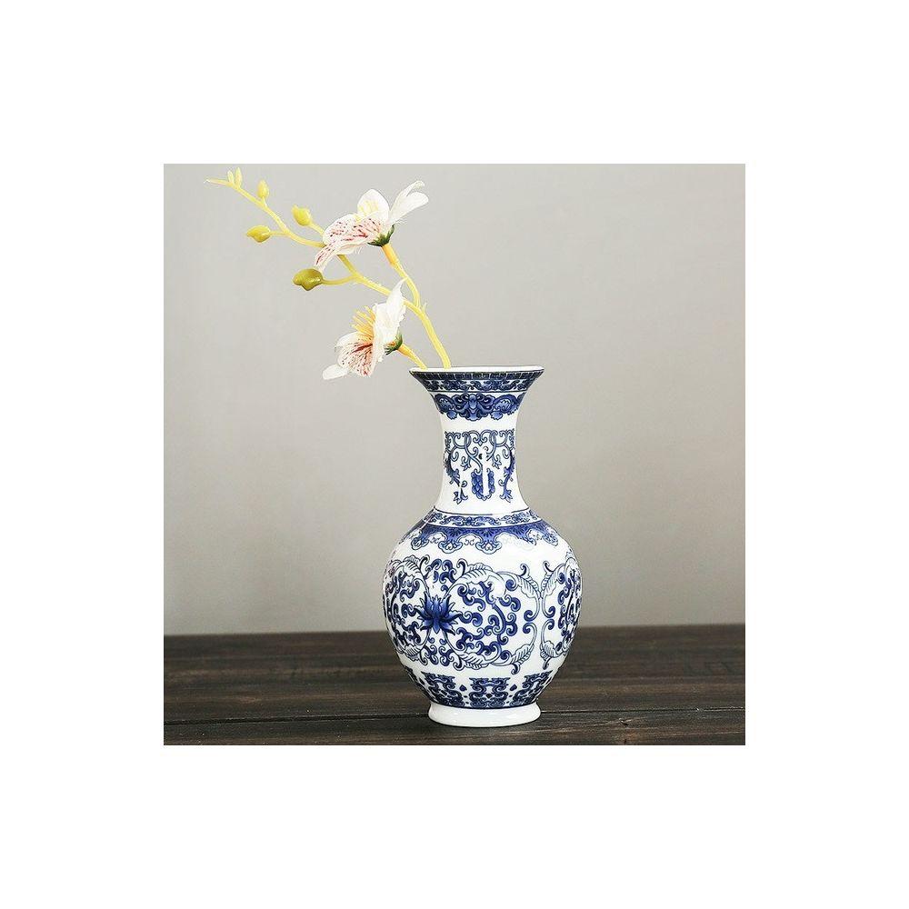 Wewoo Tenture murale Fleur Antique Jardiniere Vase en Céramique Décoration de la Maison Style Trois