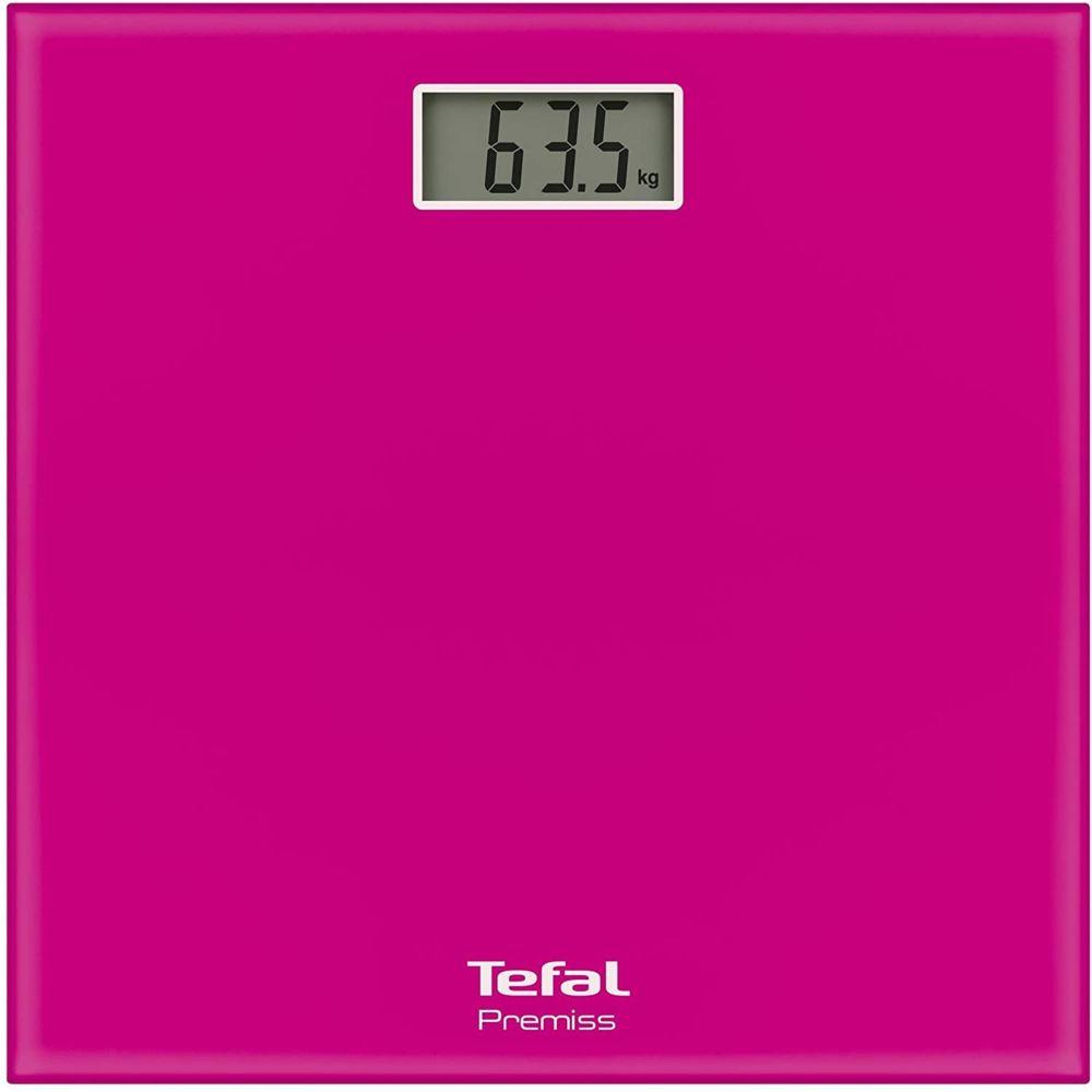 Tefal Pèse Personne Électronique Classic Ultra-fin avec écran LCD 160kg rose