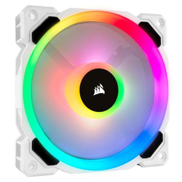 Corsair - LL120 RGB LED 120mm PWM White High Airflow Fan Corsair   - Ventilateur Pour Boîtier