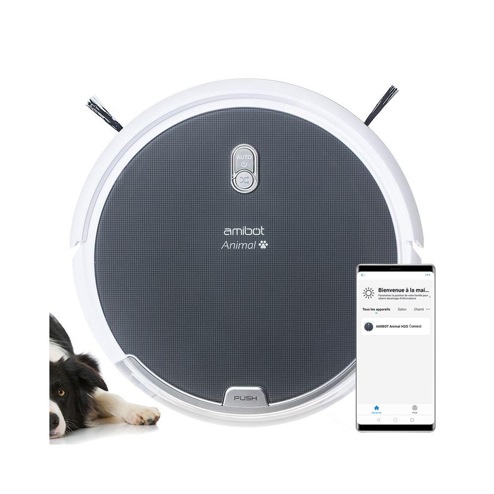 Amibot Robot aspirateur et laveur AMIBOT Animal Comfort H2O Connect
