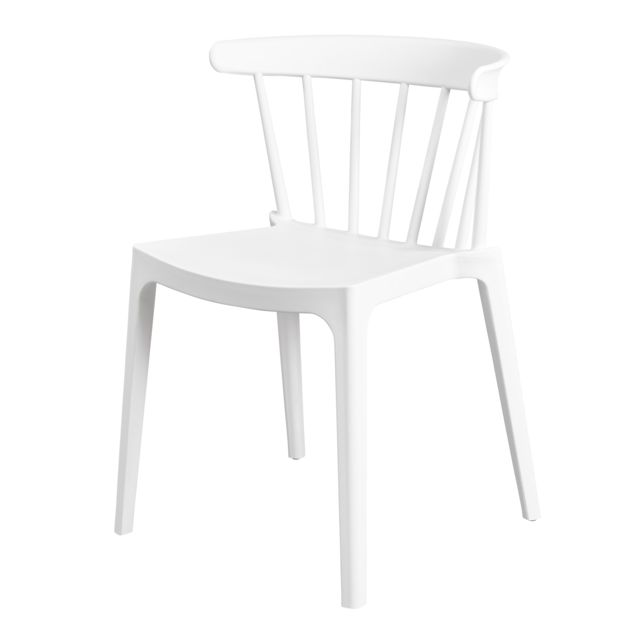 Carrefour - BLISS - Chaise blanche - 378642 - Chaises
