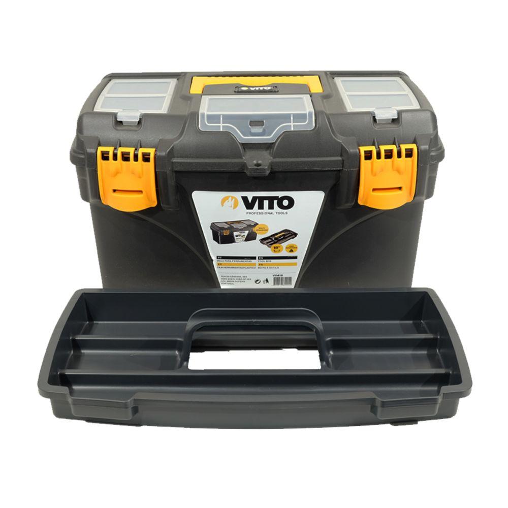 Vito Pro-Power Boite à outils 18 432 x 250 x 238 mm Caisse a outils multi-rangement haute résistance