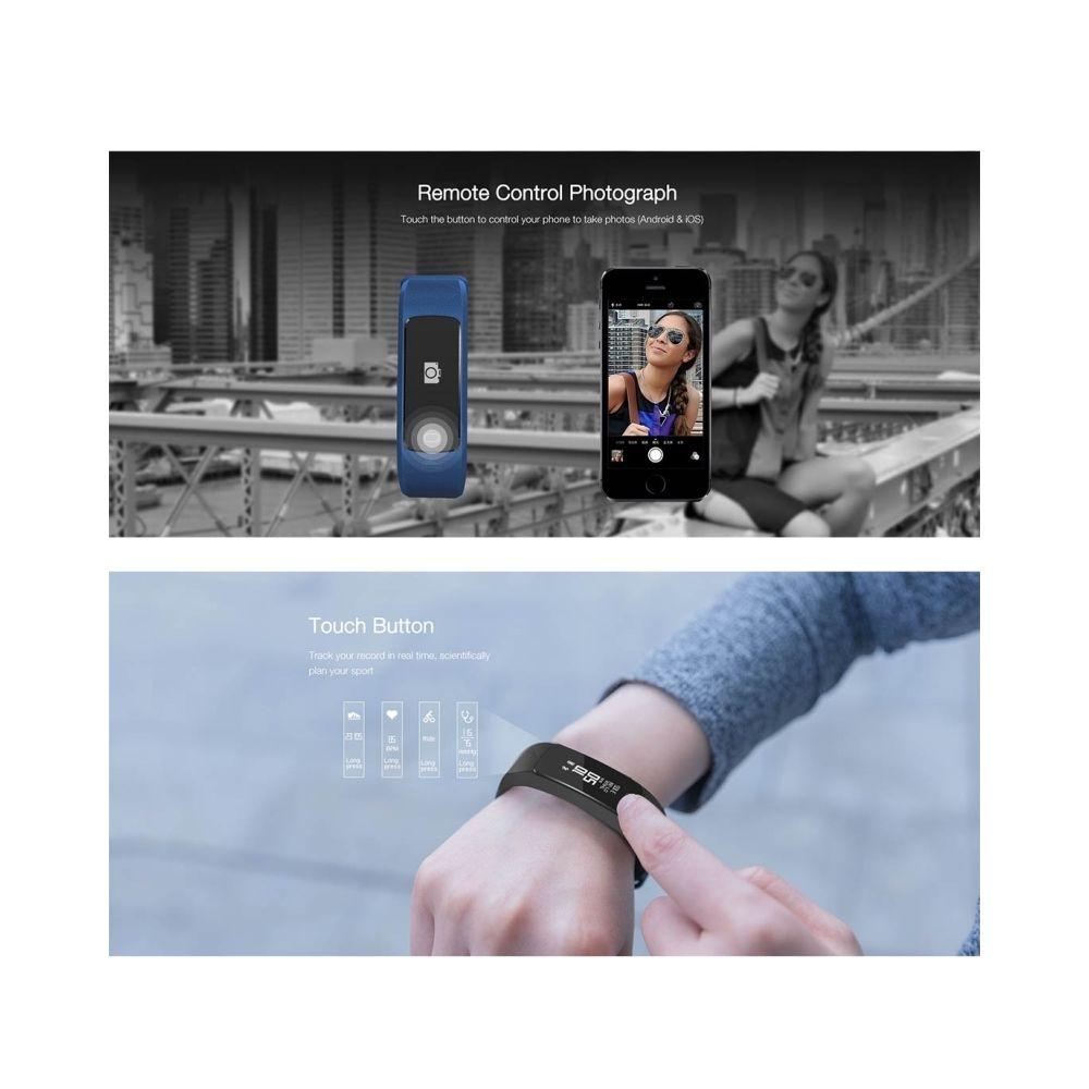 Wewoo - Bracelet connecté noir Fitness Tracker Bluetooth 4..