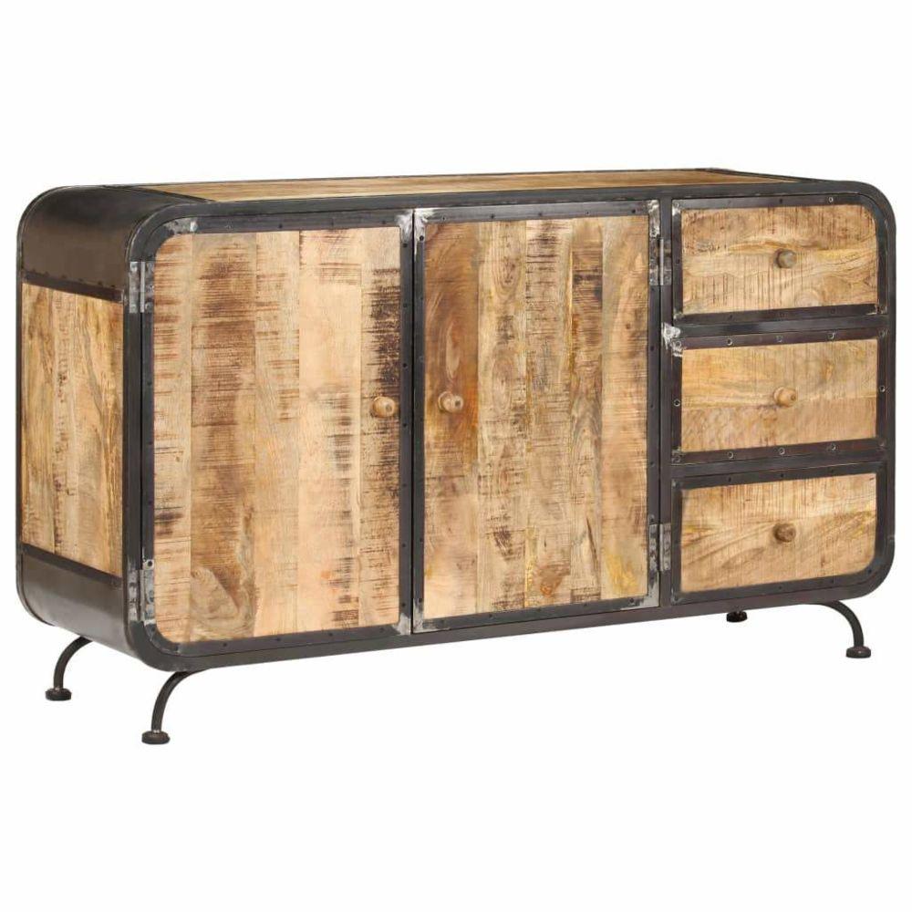 Helloshop26 Buffet bahut armoire console meuble de rangement 140 cm bois de manguier massif 4402134