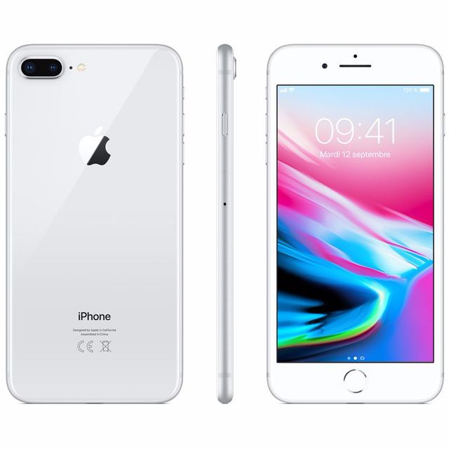 Apple - iPhone 8 Plus - 256 Go - MQ8Q2ZD/A - Argent - iPhone 256 go