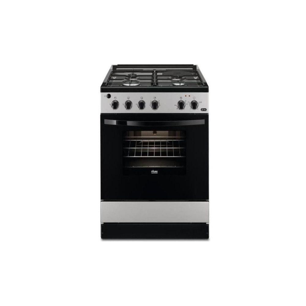 Faure Faure Fcm640hcsa-cuisiniere Table Mixte Gaz / Electrique-4 Foyers-four Electrique-catalyse-56 L-a-l 60 X H 88,9 Cm-silve