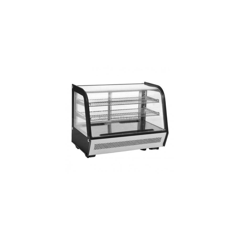 Combisteel Vitrine Réfrigérée à Poser Positive - Noire et Métal 120 litres - Combisteel -