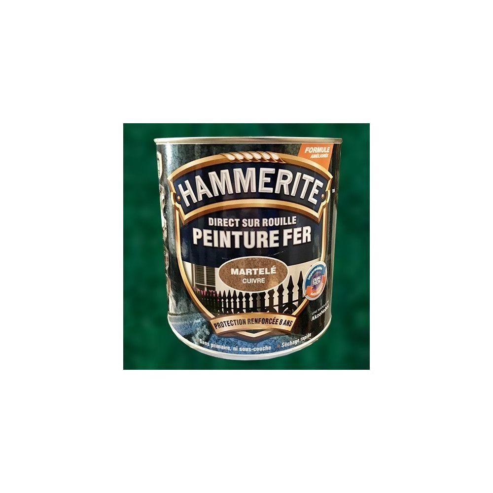 Hammerite Peinture Fer Hammerite Direct sur Rouille Vert Epicea Martelé