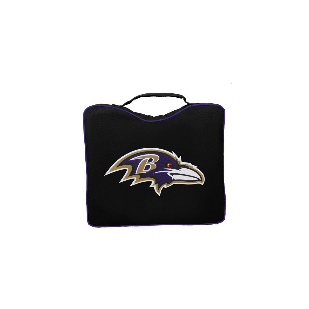 Rawlings NFL Lightweight Stadium Bleacher Seat Cushion with Carrying Strap Baltimore Ravens
