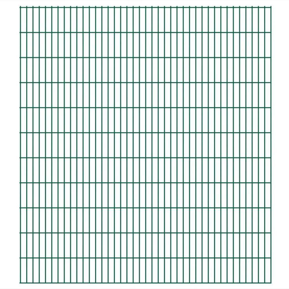 Vidaxl Panneaux de clôture 2D de jardin 2008 x 2230 mm 10 m Vert   Vert