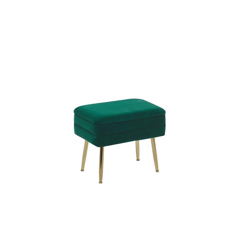 Beliani Beliani Banquette design en velours vert foncé avec rangement ODESSA -