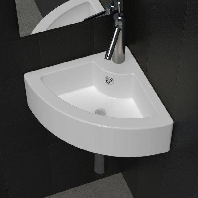 lyrlody Lavabo Vasque /à Poser Noire Evier Carr/é Lavabo /à Poser en C/éramique Design Moderne Pratique pour Toilette Salle de Bain 36x36x12.5 cm