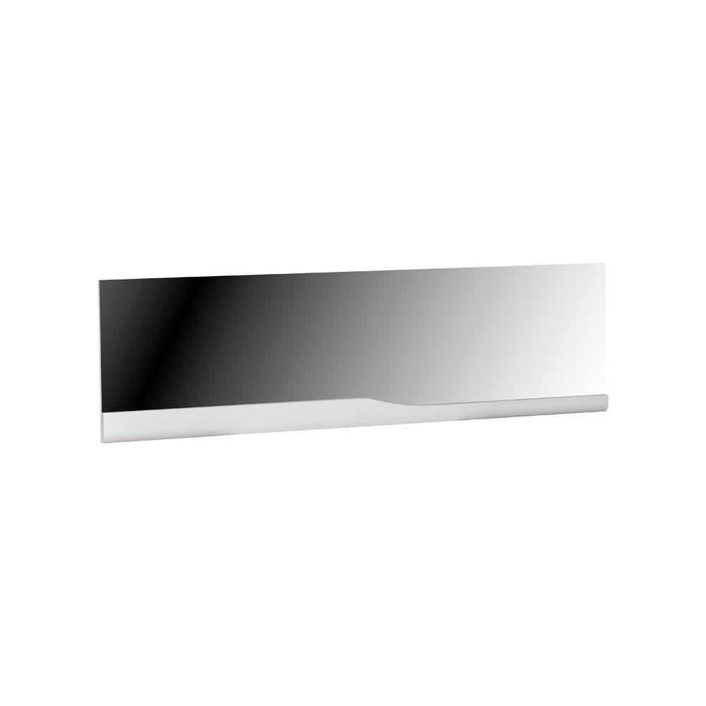 Tousmesmeubles Miroir rectangulaire Blanc laqué brillant - PESMES