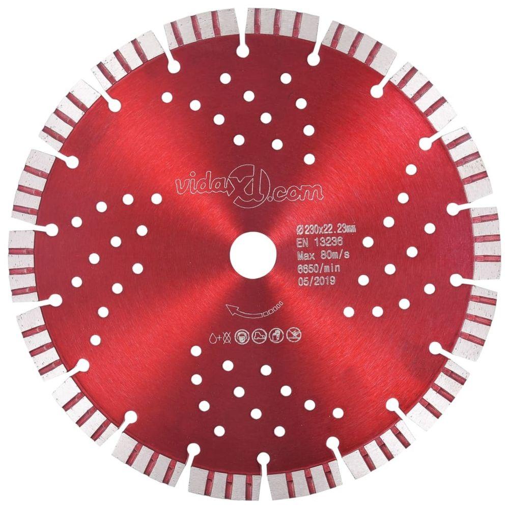 Vidaxl vidaXL Disque de coupe diamanté avec turbo et trous Acier 230 mm