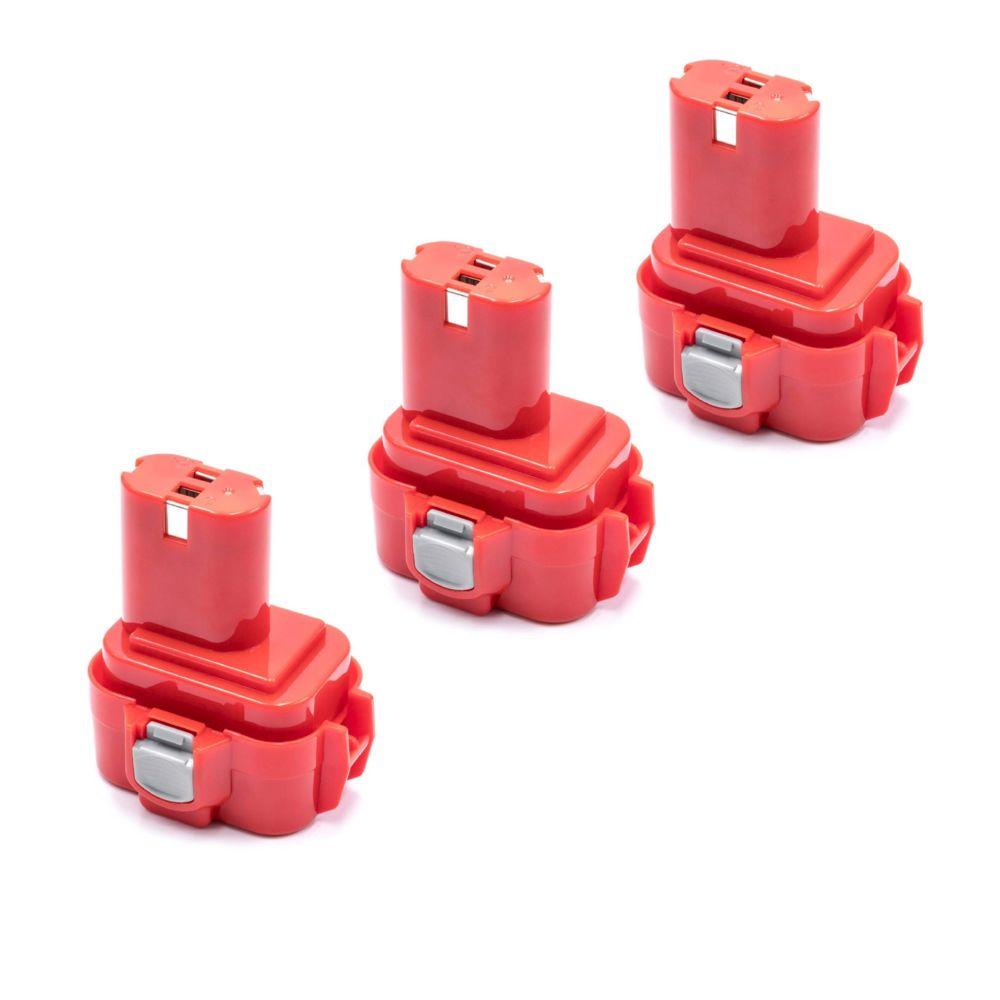 Vhbw vhbw 3x NiMH batterie 3000mAh (9.6V) pour outils électroniques comme Makita 9100A, 9101, 9101A, 9102, 9102A