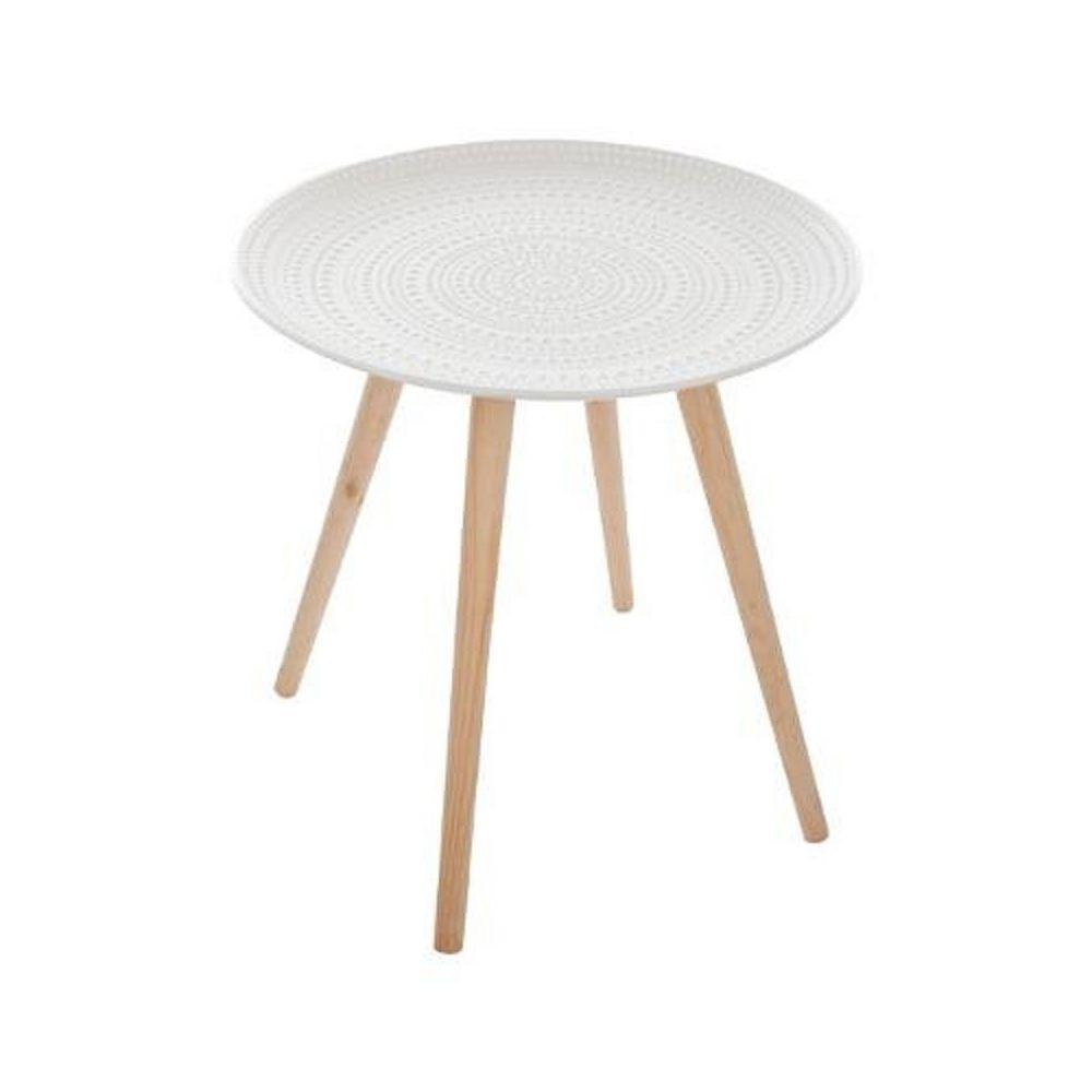 Atmosphera, Createur D'Interie Table basse ronde Mileo blanc Atmosphera