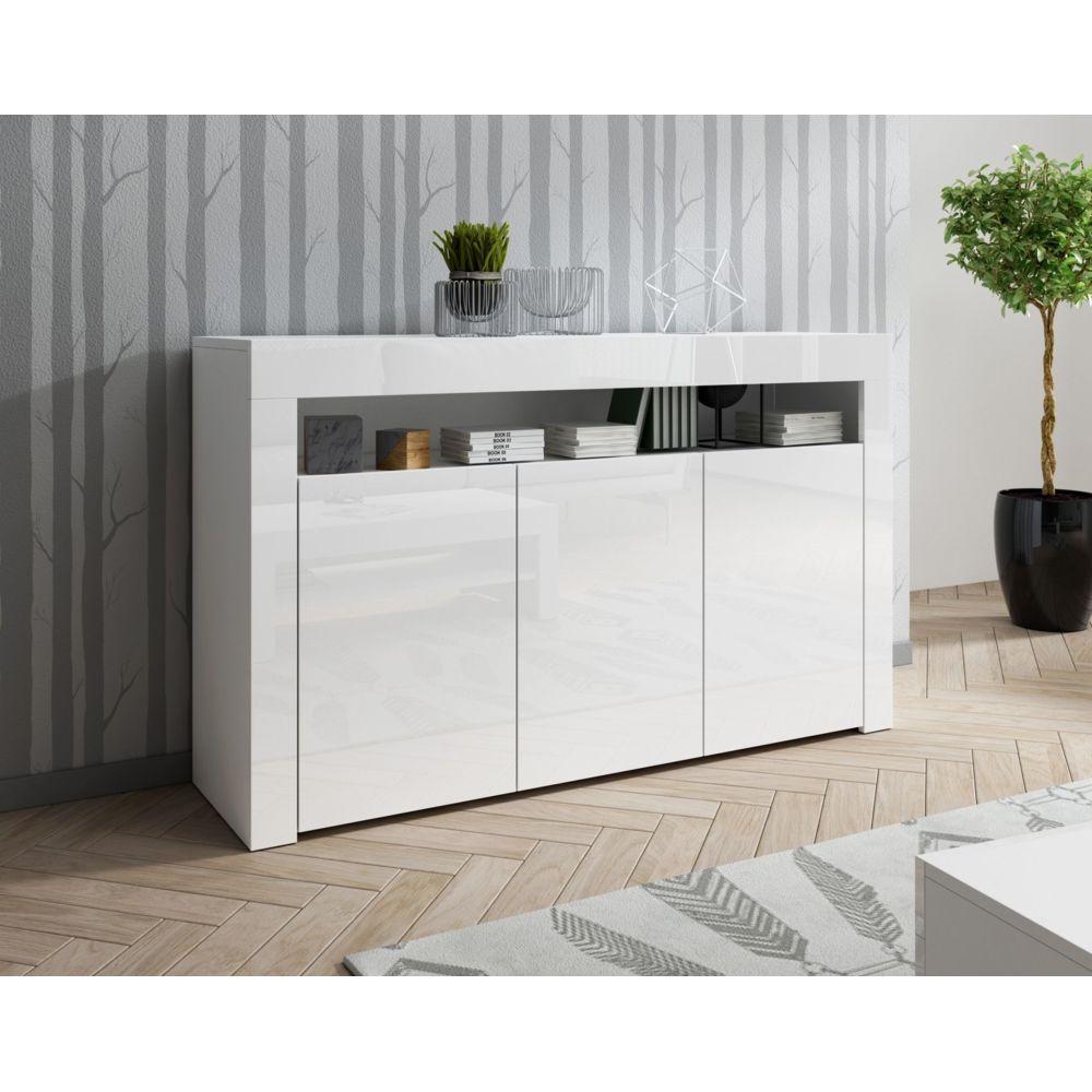 Baltic Meubles Meuble buffet blanc 3 portes - MOINSCHERCUISINE
