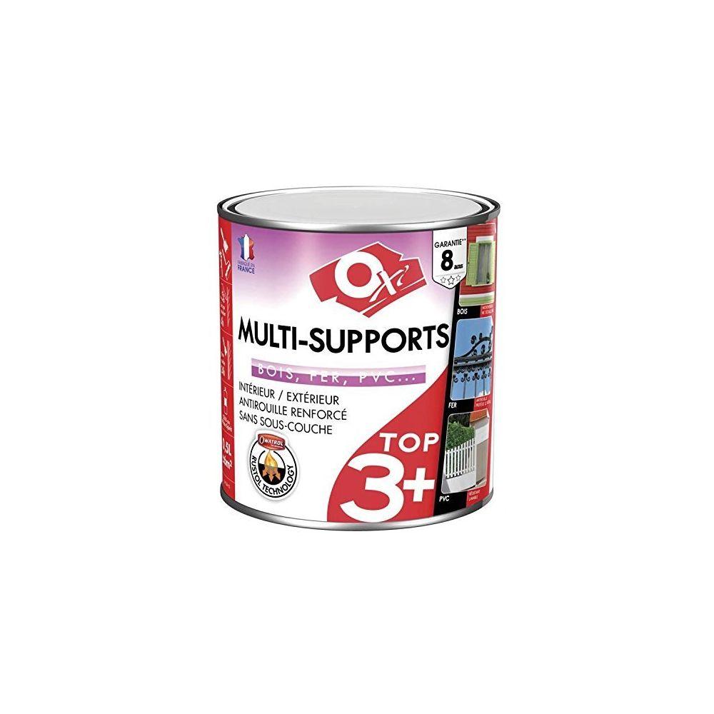 Oxi Peinture multi-supports - TOP 3 - Vert olivier - 500 ml - Satin - OXI