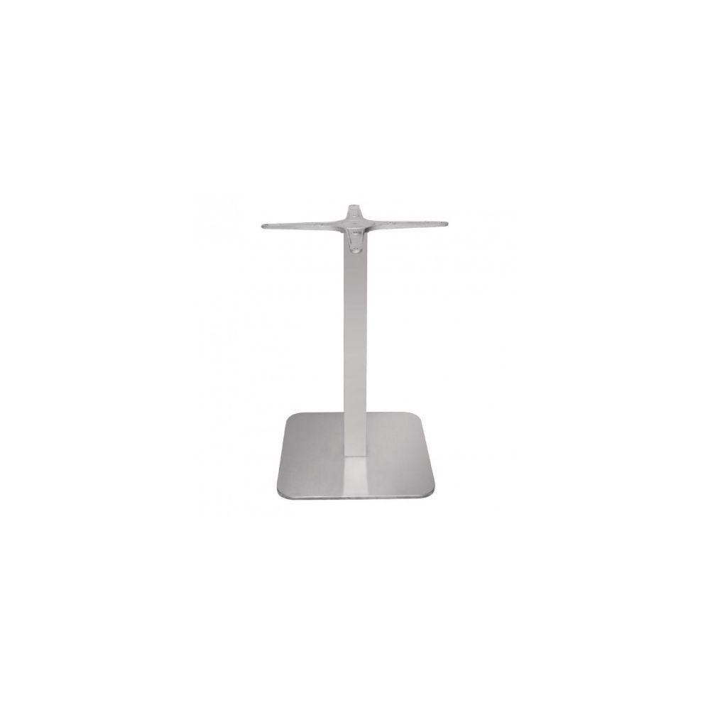 Materiel Chr Pro Pied de table carré en inox Bolero - Inox