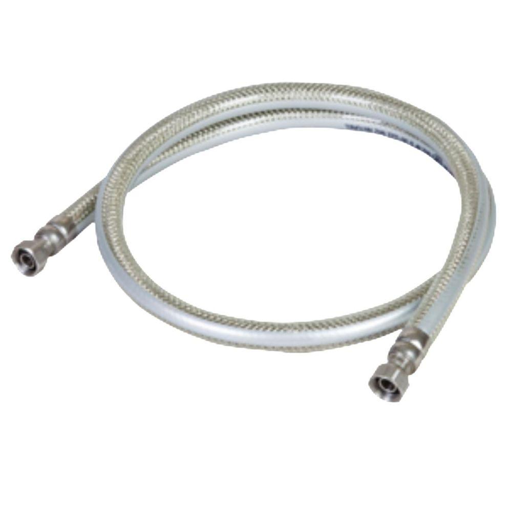 Kemper Tuyau gaz 2.00m GAZ NATUREL DE VILLE GARANTIE A VIE Flexible GN INOX PVC avec Amature renforcée