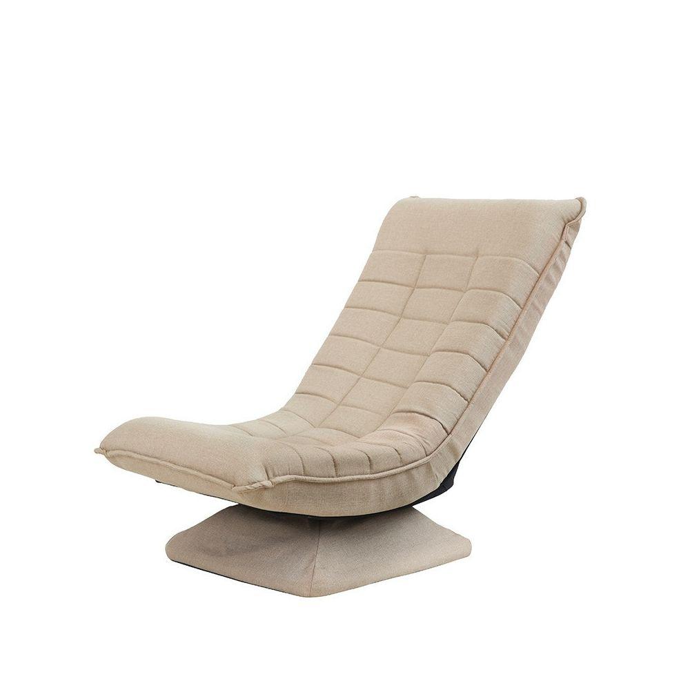 Wewoo X3 Casual Canapé Lazy Sofa Pliable Rotative Creative Tissu Kaki