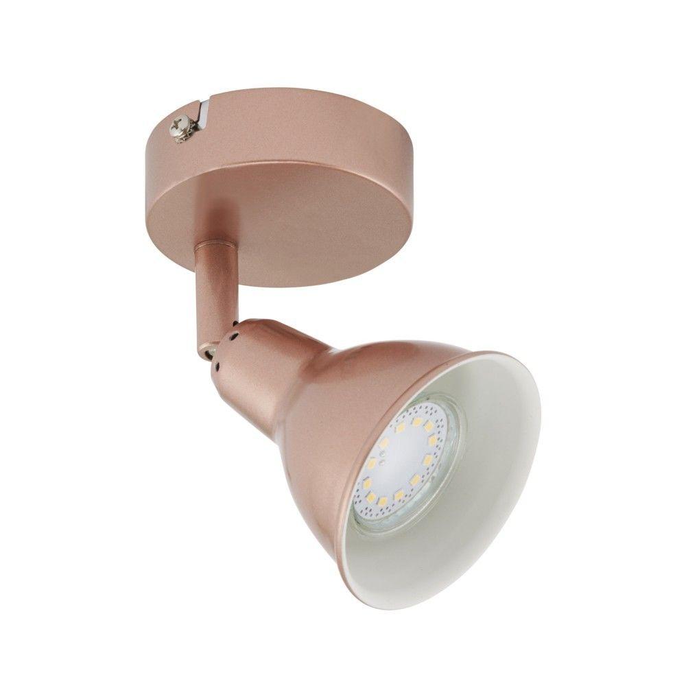 Briloner Leuchten Patère Spot LED BRILONER GU10 1x3W 1x250lm Coloris Cuivré