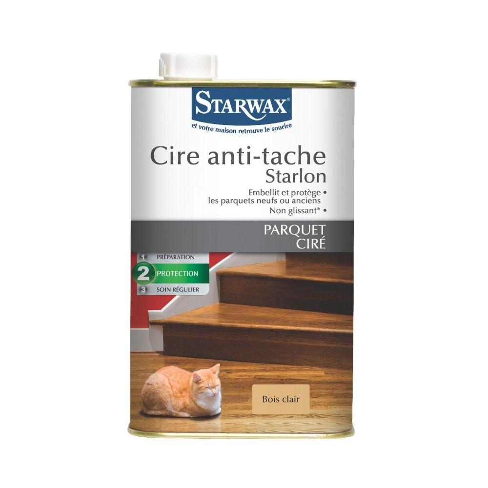 Starwax Cire anti-tache starlon-bidon 1 l - bois clair
