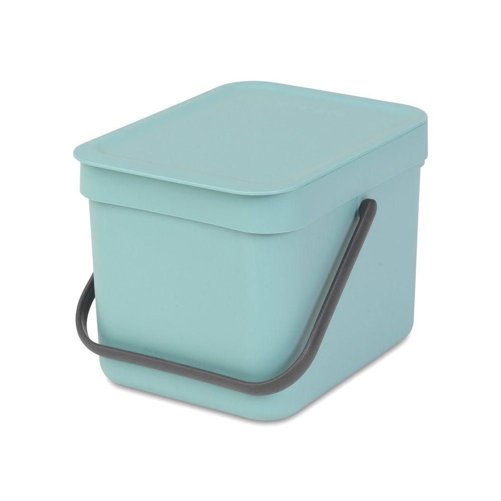 BRABANTIA Poubelle de table en plastique 6L 26.5x20x18cm Sort&Go - Vert menthe
