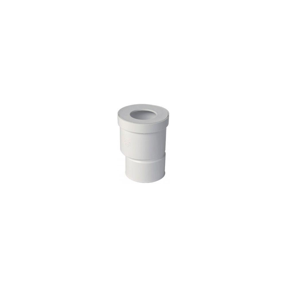 Nicoll Raccord pour WC sortie droite excentrée Ø 85/107 mm - QW810E - PVC blanc - raccord Ø 100 mm
