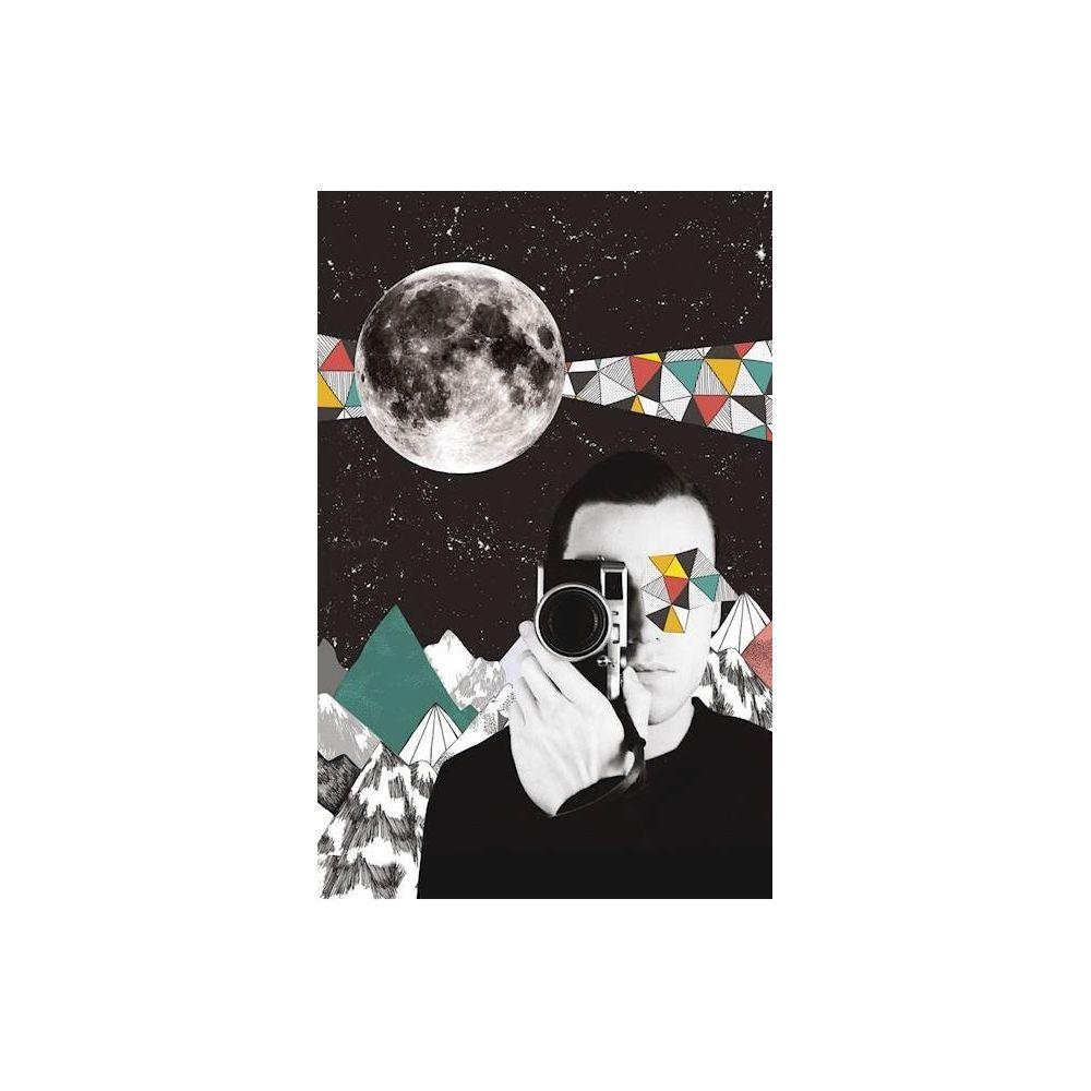 Homemania HOMEMANIA Tableau Limited Edition - Lune - Photographie - pour Séjour, Chambre - Multicolore en Coton, Bois, 45 x 2 x 70