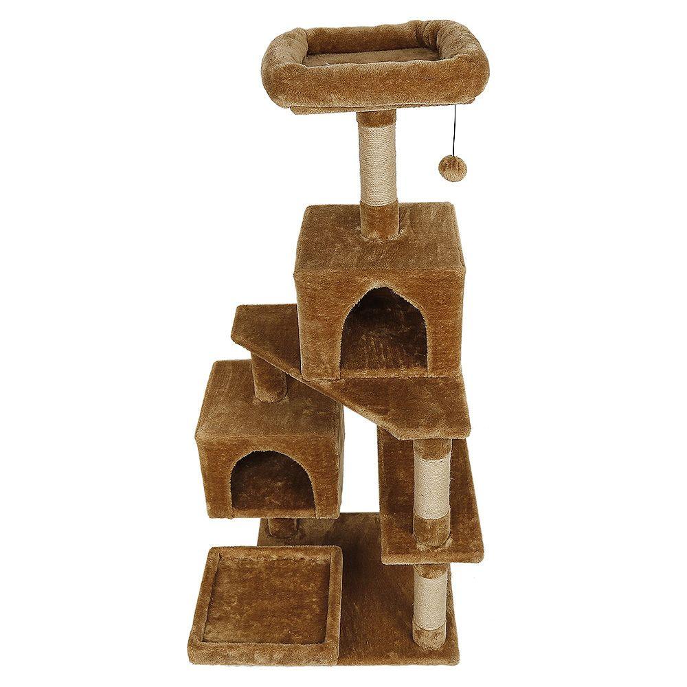 Ltppstore sublime Accessoires pour chats ligne Arbre à chat et griffoir Sisal 130cm marron