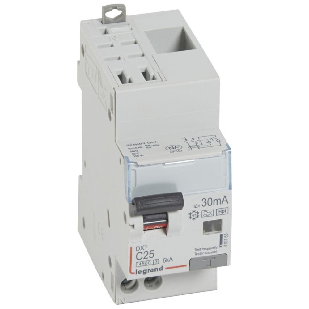Legrand disjoncteur différentiel legrand dx3 25a courbe c 30ma 2 poles type hpi - auto / vis - 6ka