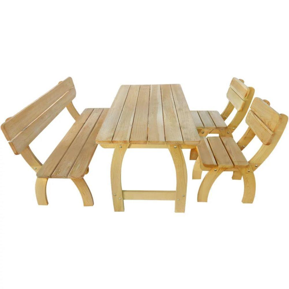 Vidaxl Jeu de salle à manger d'extérieur 4 pcs Bois de pin imprégné | Brun