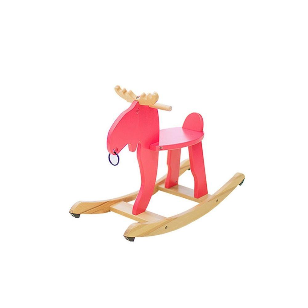 Wewoo Chaise à bascule pour enfant en boiswapitivoiture de bois Elk rouge
