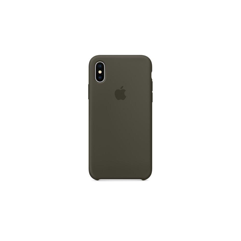 Apple - iPhone X Silicone Case - Olive sombre - Coque, étui ...