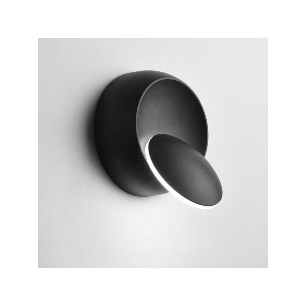 Wewoo Applique murale LED 360 ° Rotation Lumière de chevet réglable Blanc Noir Creative Lampe Moderne Allée Ronde Lampe, Tempé