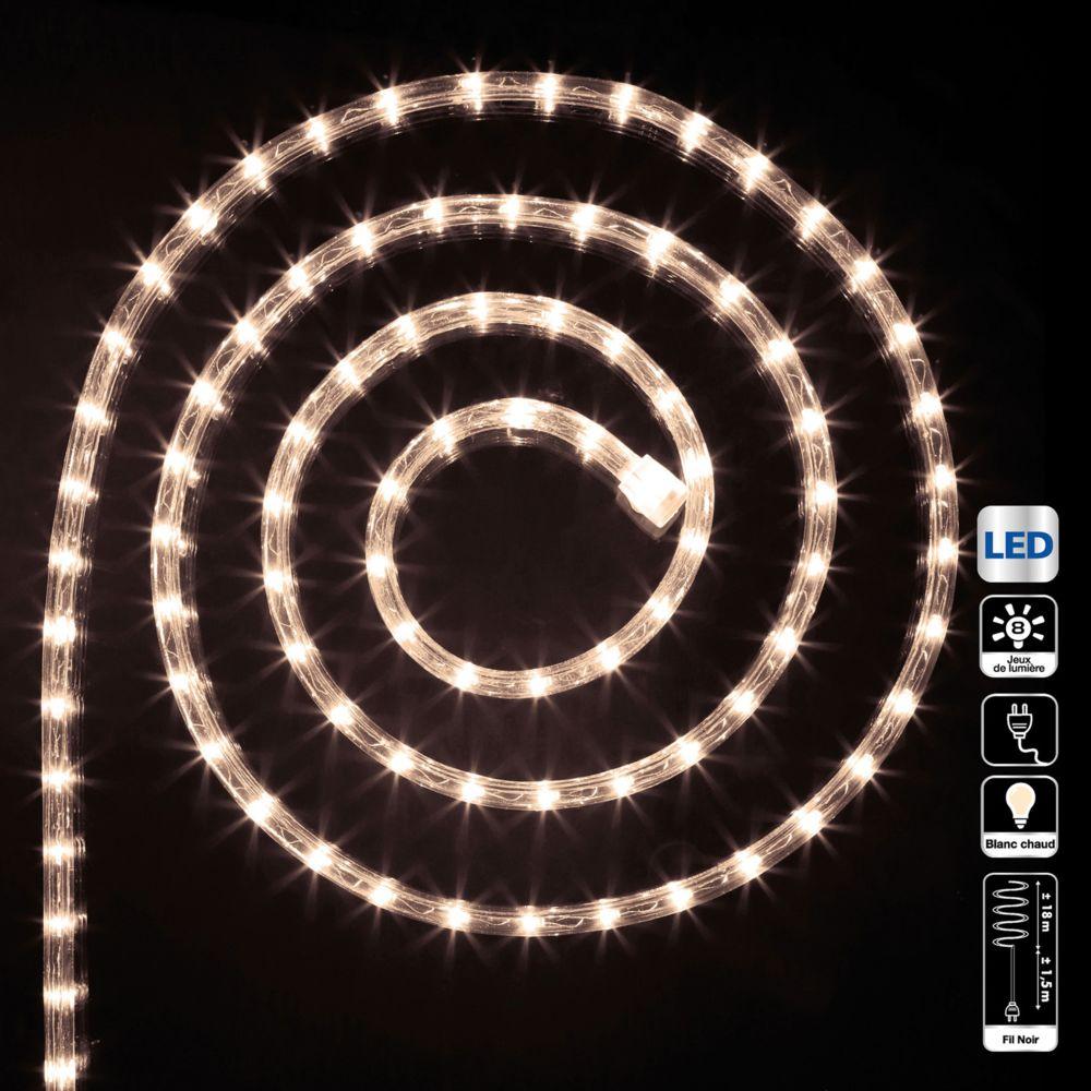 JJA Guirlande tube LED d'extérieur - 18 m. - Blanc chaud