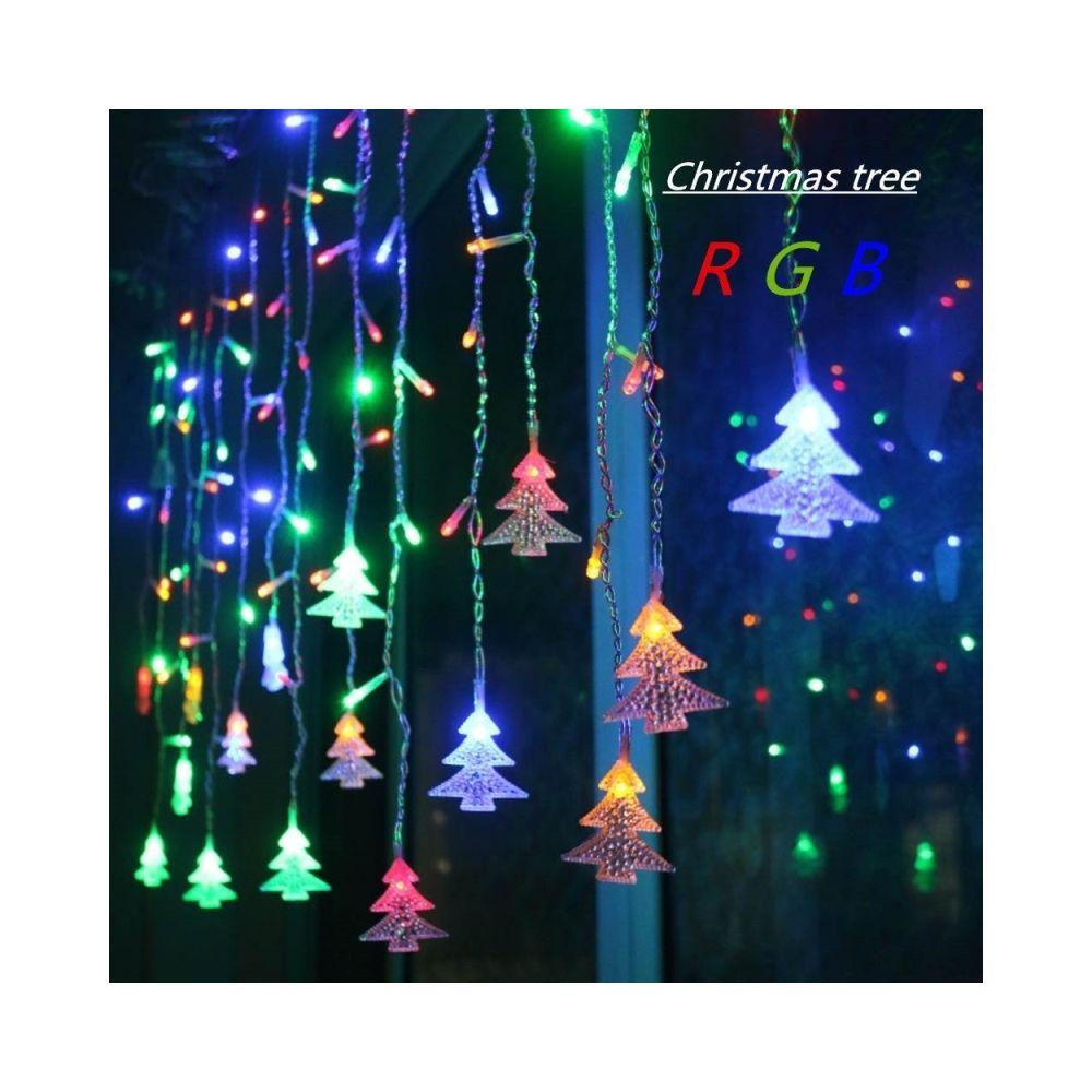 Wewoo Guirlande LED 3.5 M 96 Leds Rideau Arbre De Noël Icicle Lumineuse Fée Lights Nouvel An Lumières Décoration Fête Mariage,