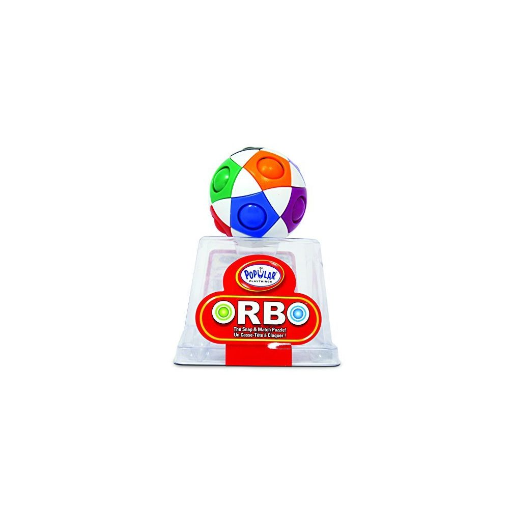 Popular Playthings Popular Playthings Orbo by PlaSmart The Snap and Match Puzzle Brain Teaser Fidget Ball Play to Enhance Memory Processing