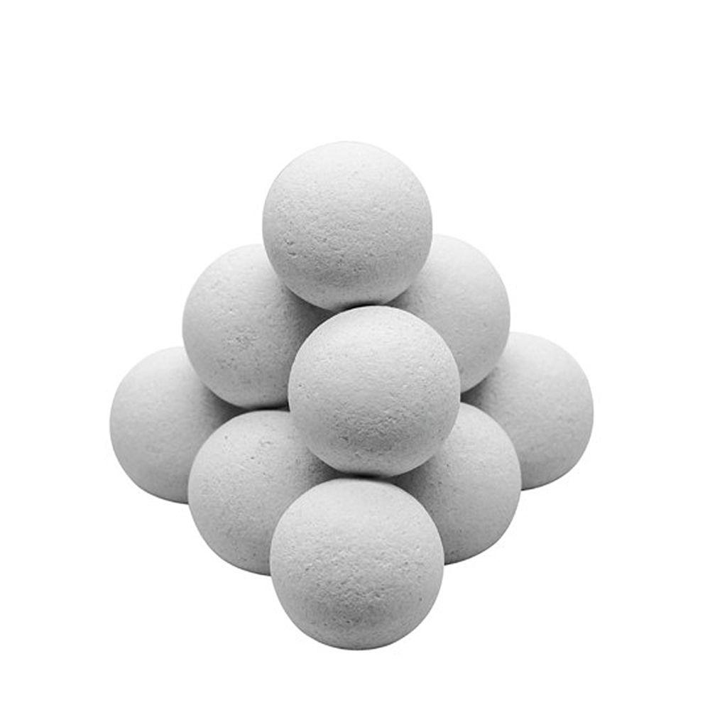 Rendez Vous Deco Lot de 11 balles liège blanches