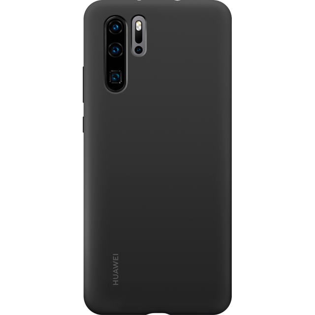 Huawei - Coque Silicone P30 Pro - Noir - Accessoires Huawei