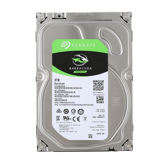 Generic - Seagate 3TO HDD Desktop disque dur interne 7200 tr/min SATA 6Gb/s 64MB Cache 3,5 pouces ST3000DM008 - SSD Interne